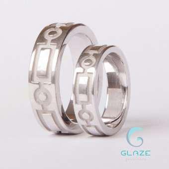 обручальные кольца с орнаментом