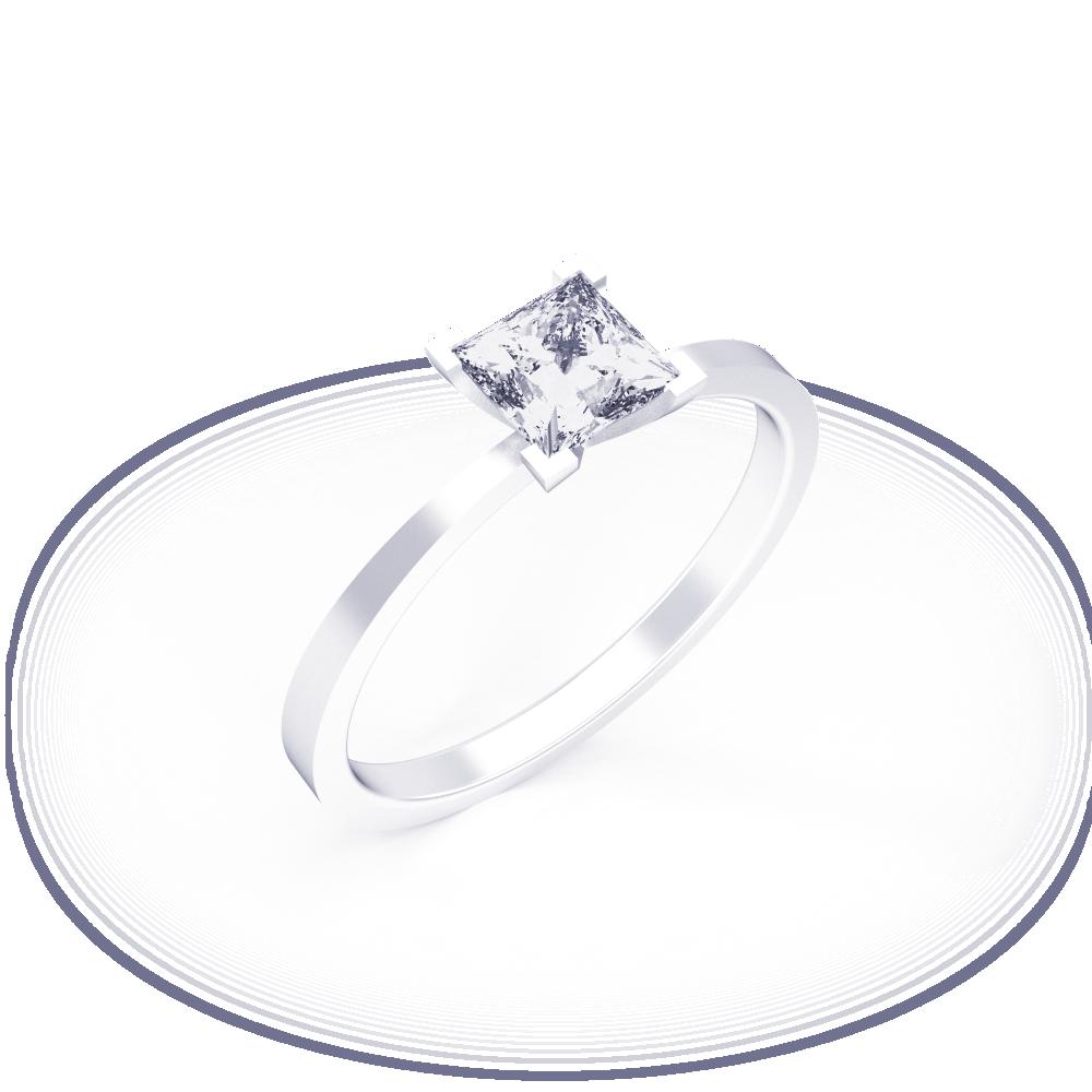 Кольцо для помолвки Princess - Glaze Jewelry a99edc8092a