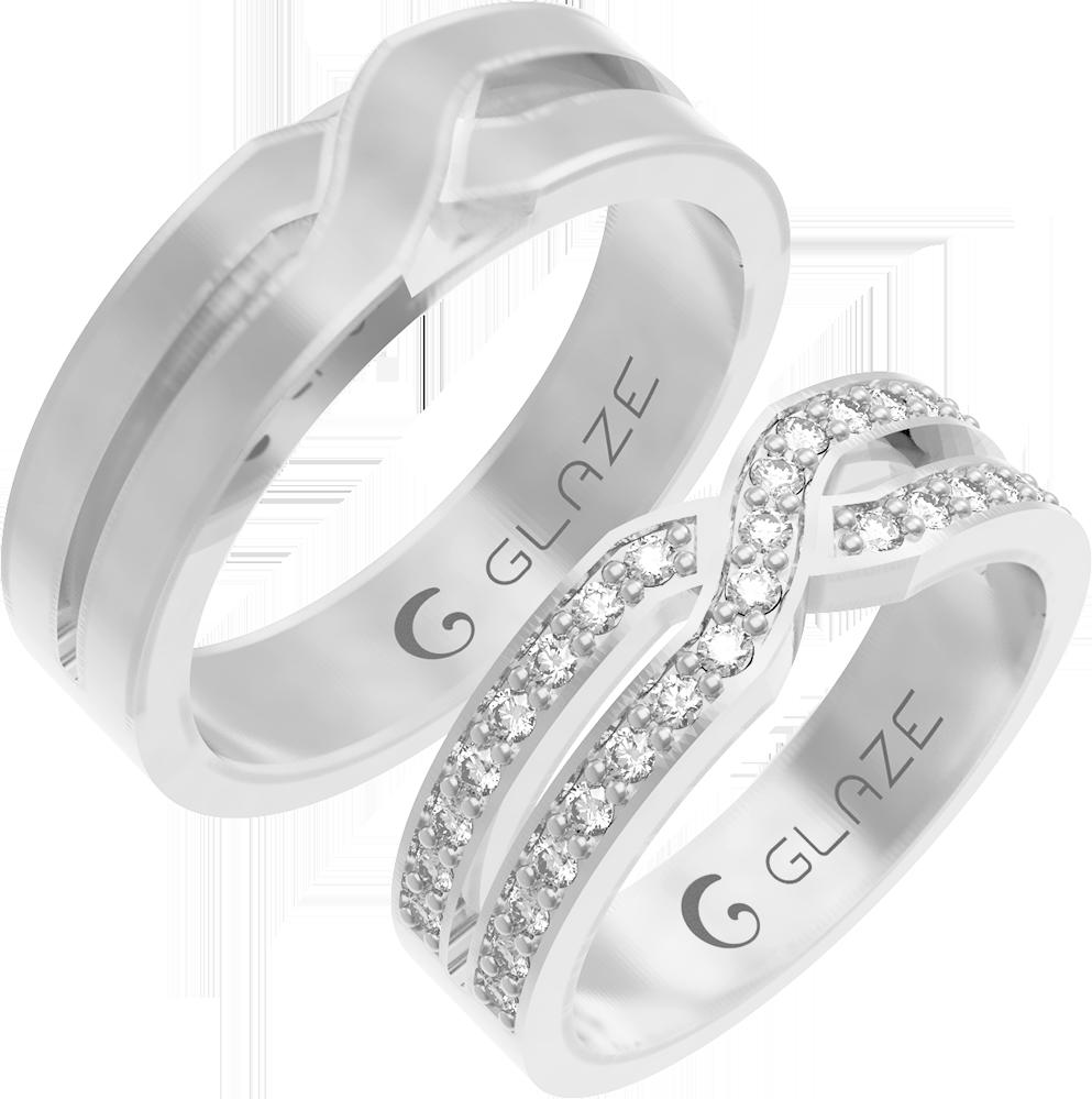 9f9674c5fdf1 Кольцо из белого золота 585 пробы. Мужское  вес 9 гр., ширина 6,3 мм. Цена   31300 ₽ Женское  вес 5 гр., ширина 5,6 мм, 35 бриллиантов весом 0,45 ct.
